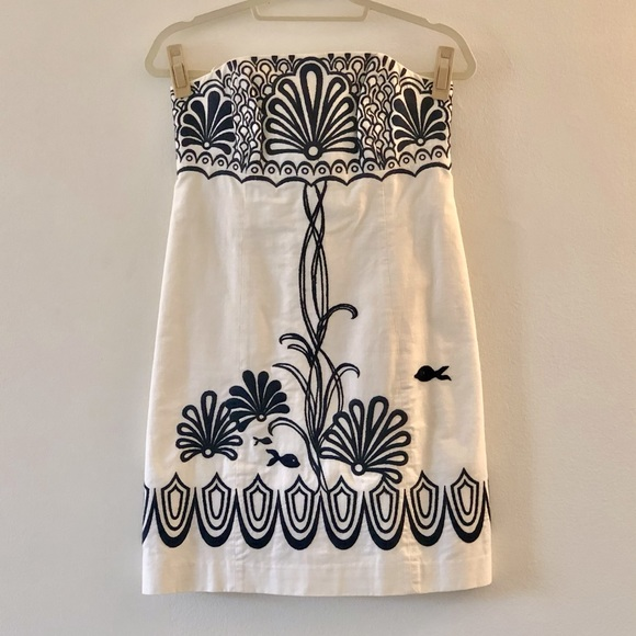 Lilly Pulitzer, Strapless Embroidered Dress